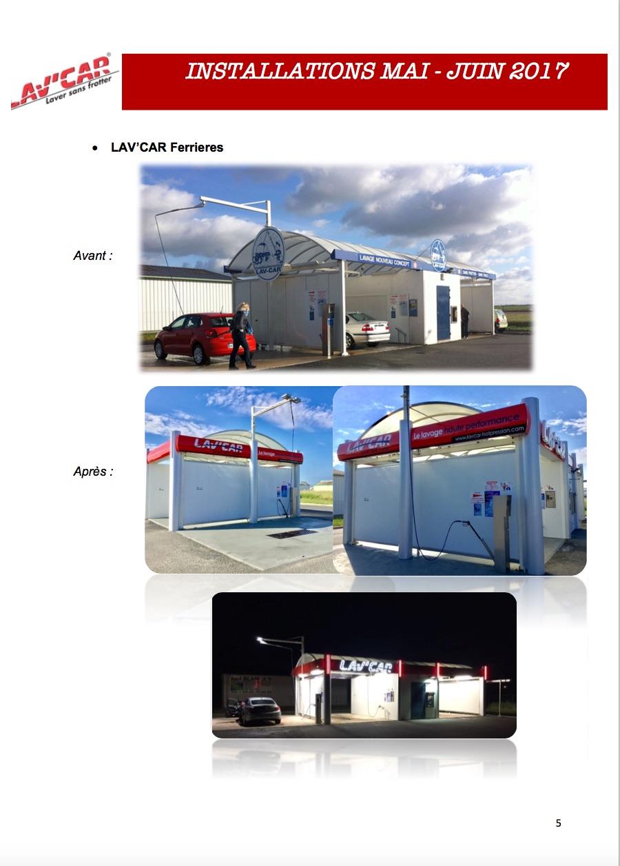 rénovation de station de lavage
